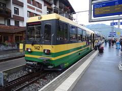 WAB Shuttle train in the station of Grindelwald. (Franky De Witte - Ferroequinologist) Tags: de eisenbahn railway estrada chemin fer spoorwegen ferrocarril ferro ferrovia