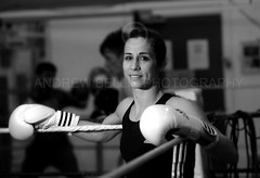 Rachel Bower - Female Boxing Champion (Andrew Bellis Photography) Tags: uk portrait england bw woman news male smile female pose happy photo nikon image box interior champion picture documentary ring business human gloves photograph boxer editorial british boxing press feature reportage rachelbower
