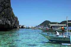 Boats (Nick Barx) Tags: ocean tree beach water island boat buffalo asia farm philippines el palm southeast nido