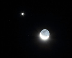 Moon and Venus (gainesp2003) Tags: november sky mars moon night solar venus space science system planets astronomy jupiter 2015 conjunction