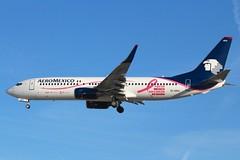 Aeromexico (So Cal Metro) Tags: pink plane airplane la losangeles aircraft aviation jet ribbon boeing lax awareness breastcancer airliner 737 aeromexico eidra