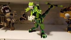 Lego Mixel Moc, series 2, T rex. (miketvas) Tags: robot lego dinosaur series trex mech tyrannosaurus tyrannosaur mixel glorp mixels legomixelmoc