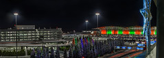 southern star (pbo31) Tags: california christmas panorama holiday motion color night dark season lights star airport nikon december traffic sfo top garage parking over large christmastree panoramic bayarea stitched sanbruno sanfranciscointernational 2015 lightstream boury pbo31 d810