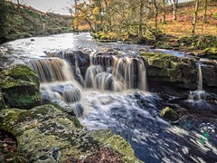 Nelly Ayre Foss (moose malloy) Tags: longexposure autumn fall water river flow waterfall movement rocks stream beck olympus falls northyorkmoors foss northyorkshire omd goathland em1 riveresk nellyayrefoss westbeck