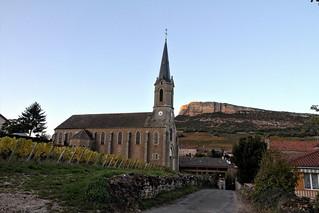 Eglise au soleil couchant