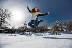Breanne (Flickr_Rick) Tags: autumn woman snow cold fall girl outside jump jumping breanne jumpology