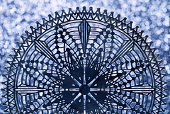 Ornamental Bokeh (j.towbin ©) Tags: allrightsreserved© ornament mandala pattern design manipulated bokeh macro macromondays holidaybokeh holidays blue