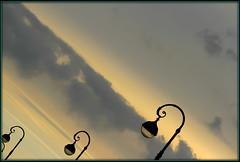 Evening (Armin Fuchs) Tags: arminfuchs stpetersburg evening diagonal sky clouds lamps russia fineart jazzinbaggies