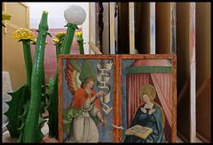 THE ANNUNCIATION (LitterART) Tags: depot lager kunstdepot collection art kunst museum verkndigung gotik gothic medieval thomasstimm lwenzahn maria hausaltar wingedaltar familyaltar annunciation artwarehouse gabriel dandelion deposit admont sammlungen kurtryslavy michaelmaier saint saints heilige