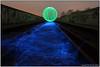 RailORBway (seb a.k.a. panq) Tags: lp lightpainting sebastianbakajphotography night railway tracks orb green blue elwire abandoned noctography noaccess military nightphotography nightwork chrobry pany