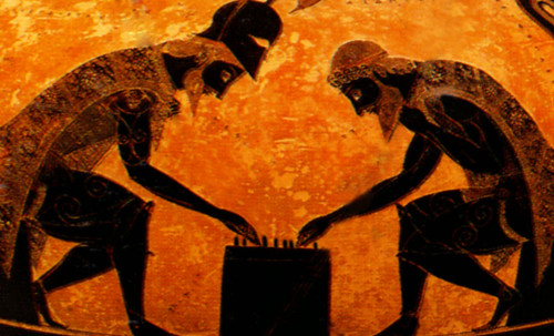 "Petteia - Ludus Latrunculorum  / Iconografía de las civilizaciones helenolatinas • <a style=""font-size:0.8em;"" href=""http://www.flickr.com/photos/30735181@N00/31678498184/"" target=""_blank"">View on Flickr</a>"