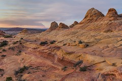 *Coyote Buttes South @ Sunset* (albert.wirtz) Tags: albertwirtz usa unitedstates america amerika vereinigtestaaten arizona northarizona vermilioncliffs nationalmonument vermilioncliffsnationalmonument coyotebuttes cbs coyotebuttessouth cottonwoodtrailhead permit genehmigung sandstone sandstein patterns colorful southwest usasouthwest twilight sunset sonnenuntergangslicht sunsetlight coconinocounty houserockvalleyroad felsen rocks