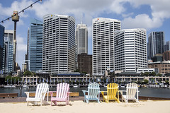 summer sydney (Greg Rohan) Tags: cityscape buildings darlingharbour d7200 2017 sydney summer chairs chair outdoor skyline skyscraper city photography