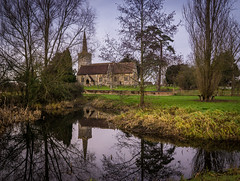 Chaceley Church (Matt Bigwood) Tags: chaceley gloucestershire landscape refelection sonya6000 18200 sunset