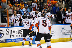"Missouri Mavericks vs. Quad City Mallards, December 31, 2016, Silverstein Eye Centers Arena, Independence, Missouri.  Photo: John Howe / Howe Creative Photography • <a style=""font-size:0.8em;"" href=""http://www.flickr.com/photos/134016632@N02/31972634691/"" target=""_blank"">View on Flickr</a>"