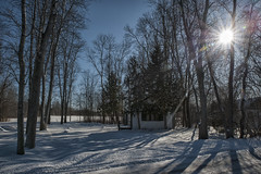 Hiding In The Shadows (Brian Rome Photography) Tags: cottage snow winter cold empty winterized shadow travel nikon d700 georgina york ontario cottagecountry