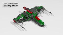 Bulldog Mk IIa (CK-MCMLXXXI) Tags: lego moc spaceship starfighter digital render ldd bulldog