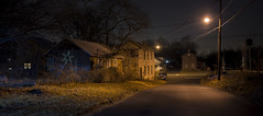 365-5 (• estatik •) Tags: 36545 january52017 1517 jan panorama long exposure flemington hunterdon county nj new jersey usa dark darkness light lights street rural train abandoned house
