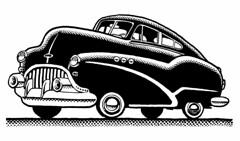 Freaky Oldsmobile (Don Moyer) Tags: cfar auto automobile vehicle ink drawing moleskine notebook moyer donmoyer brushpen doodle oldsmobile