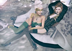 Belt Up, Betty! Curious <with Wicca Merlin> (  Tempest Rosca Photography  ) Tags: tempestrosca tempestroscaphotography wiccaswardrobe wiccamerlin blacklace realevil realevilindustries theepiphany epiphany sys emotions cashmere empyreanforge empire secondlife secondlifeblog secondlifefashion sl slblog slshoes