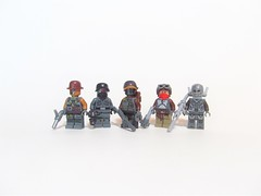 Steampunk WWII Soldiers (Windusky) Tags: lego figbarf wwii steampunk soldiers soldier military