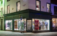 Retail Shop (Preston Ashton) Tags: shop retail sell hire night light lit open window windows door darlington england uk prestonashton 1860 suitsyousir kilt highland clothing post house wynd