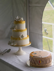 New Orleans bride, Montana groom (Herbert Harper) Tags: bride groom wedding cake tiers blackfeet montana powwow drum
