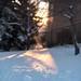 A walk (Tracey Rennie) Tags: snow sunset goldenhour winter mystreet walking