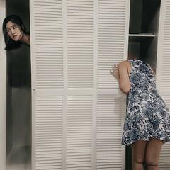 187/365 Hide and Seek (Katrina Y) Tags: surrealphotography conceptual artsy manipulation magic closet self portrait creepy creative 2017 365project perspective mood