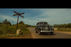 Live from 1947 (- Loomax -) Tags: cuba country road car oldcar movie filmnoir chrysler 40s landscape