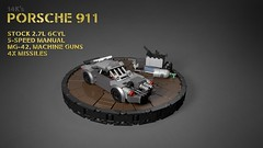 14K's Porsche 911 (Vaionaut) Tags: lego vehicles legocity 14k deathrace car cars