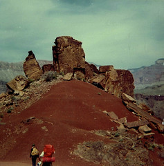 Hiking (~ Lone Wadi ~) Tags: landscape outdoors remote rocky hills hiking hiker retro 1960s nature