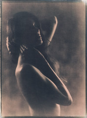 Elodie in the studio #2 (patrickvandenbranden) Tags: 18x24 8x10 heliar alternativeprocess aquarelle beauty beauté blackandwhite cyanotype feminity femme fineart largeformat noiretblanc nude nudity nue pictorialist portrait procédéalternatif studio toned vintage voigtlander30045 woman darkroom artisawoman