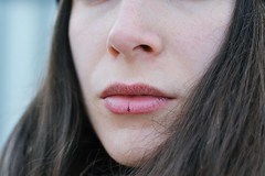 Cold on lips (Ylenia Comi) Tags: cold lips portrait woman girl young nikon 50mm winter face freckles pale delicate concept conceptual