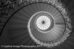 The Tulip Stairs (_Captive Image_) Tags: queen thames building captiveimagephotography queenshouse 17thcentury anneofdenmark wroughtiron royal tulipstairs greenwich staircase kingjamesi stair history london geometric 1st british spiral residence architecture inigojones classical uk selfsupporting