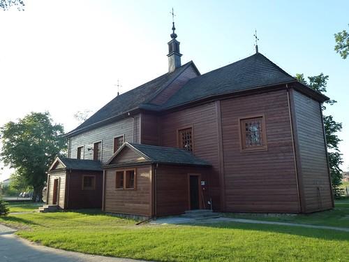Kościół św. Wawrzyńca w Gliniance od południowego wschodu