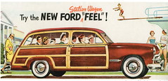 Ford Custom DeLuxe Station Wagon (1949) (andreboeni) Tags: classic car automobile cars automobiles voitures autos automobili classique voiture retro auto oldtimer klassik classica classico publicity advert advertising advertisement illustration ford usa custom deluxe woody woodie stationwagon wagon break kombi combi estatecar v8 1949 49