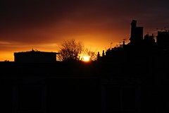 IMG_1234 (LezFoto) Tags: sunrise aberdeen scotland canon eosm chimney aerials rooftops sun tree morning sky