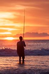 _MG_1704 (treilmann) Tags: beach fisherman seminyak sunset bali fishing
