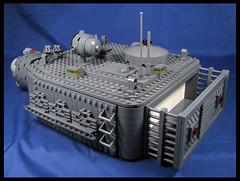 Turret Update (Karf Oohlu) Tags: lego moc wip turret gunbarrel pakgun rocketlauncher 600mmrocketlauncher afv sparetrack hatch