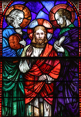 Listen to Him (Lawrence OP) Tags: biblical transfiguration holyrosary baltimore stainedglass jesuschrist moses elijah law prophets glory