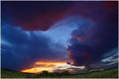 Turbulence at sundown (chasblount) Tags: ranch sunset sun storm rain clouds rural landscape texas sundown dusk farm wideangle amarillo rainy vista cloudscape panhandle stormclouds thunderstorms canonef15mmf28fisheye canoneos50d