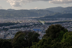 The view from Shogun-duka Seiryu-den, Kyoto /  (Kaoru Honda) Tags: city summer nature japan landscape temple japanese evening nikon kyoto              shoreiin d7000    shogunduka