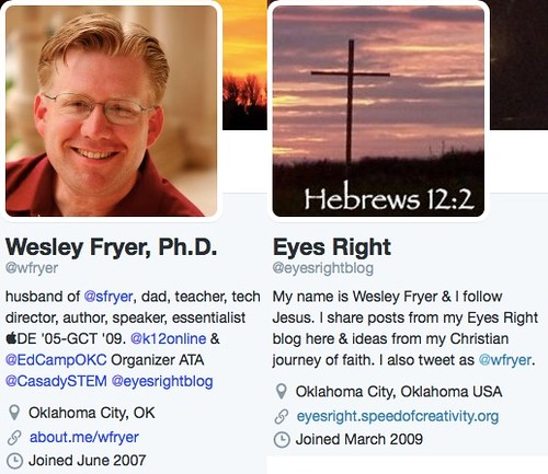 Twitter Profiles of Wesley Fryer by Wesley Fryer, on Flickr