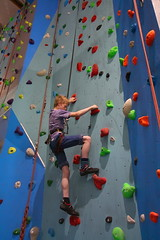 climbing wall (Curl66) Tags: church sport canon fun photography scotland colorful centre helmet indoor rope climbing secure elgin activity moray holds harniss