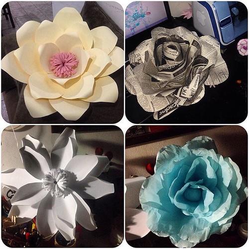Por que é 🌸🌷💐#primavera 💐🌼🌼🌸  E assim vou treinando minhas flores gigante 😍😍 #papel #paperflowers #paperflower #floresdepapel #florestaencantada #bymarleneSa