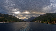 KOT047 (Mongrel Horde) Tags: cruise clouds canon wake cruising fisheye 8mm cloudporn montenegro kotor celebritycruises celebrityconstellation undulatusasperatus 815mmf4l