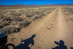 Cycling the Great Divide Basin in Wyoming.
