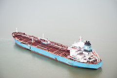 A US Coast Guard photo of the Carla Maersk after a March 2015 collision with the Conti Peridot in the Houston Ship Channel. (TradeWindsnews) Tags: coastguard us cg texas unitedstates spill collision oilspill uscg mtbe houstonshipchannel morganspoint padethouston stationhouston contiperidot carlamaersk