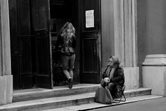 please, pray for me (Stefano E) Tags: street blackandwhite woman girl italia candid bologna sundaymorning panhandler mendicant poorpeople peoplesitting